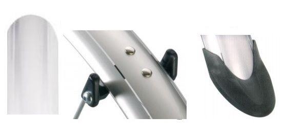 Błotniki włoskie ORION OR 26 '' x 53 mm kolor biały komplet nylon/alu