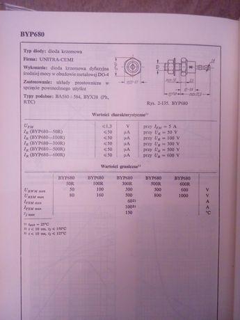 Dioda unitra BYP680,600R,300r