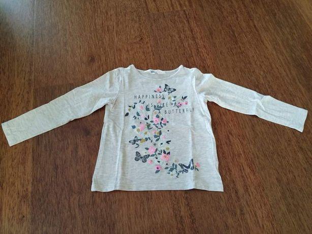Bluzeczka beżowa H&M r. 98/104.