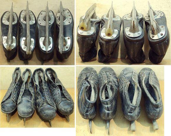 Ковзани-Коньки с ботинками 2-пары, б/у 34 и 35 р.
