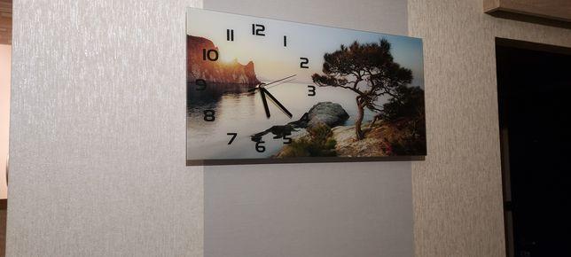 Zegar szklany z nadrukiem