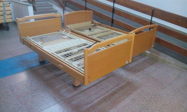 gabarytowe z dużą ilością drewna łóżko rehabilitacyjne