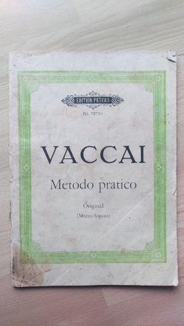 Vaccai, Praktyczna metoda włoskiego śpiewu, na mezzo-sopran i fortepia