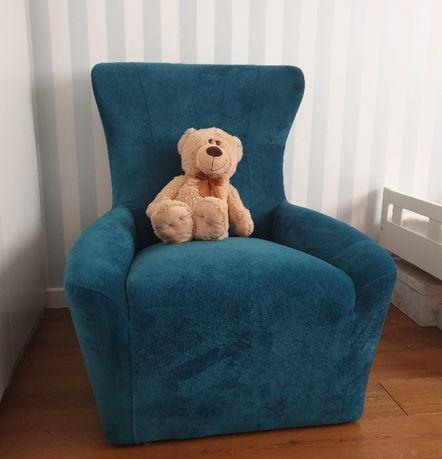 Fotel Coco Agata Meble Super Jakość Kolor Turkusowy/Niebieski