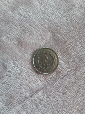 Moneta 1 złoty rocznik 1991 złotówka