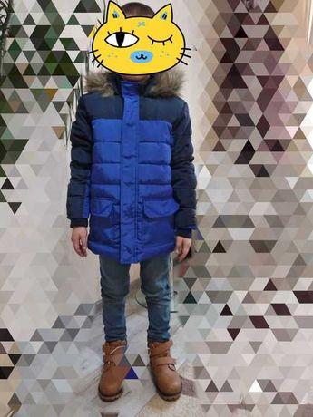 Куртка новая зимняя на флисе-  128 см, 7-8 лет, Польша