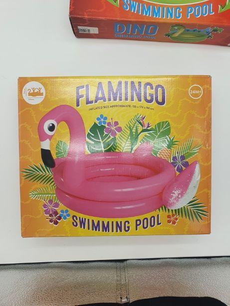 Надувной бассейн, дитячий надувний басейн Фламінго Edeka 155х174х94 см