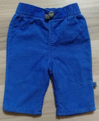 Spodnie sztruksowe na bawełnianej podszewce rozm. 56
