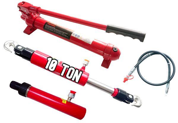 Pompa Hydrauliczna + Siłownik + Ściągacz 10T Zestaw do prasy 10 Ton