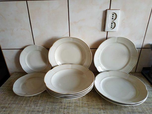 Sprzedam minimalistyczny zestaw obiadowy PRL antyk porcelana Chodzież