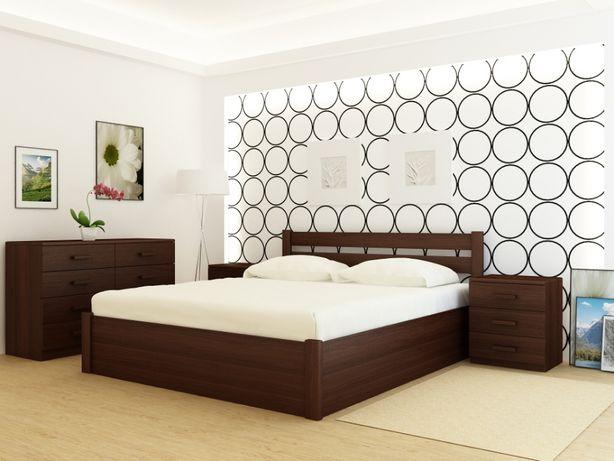 Кровать деревянная Frankfurt PLUS Каштан с подъемным механизмом.