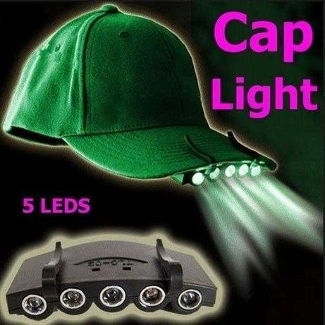 5 LED chapéu Clip Lâmpada luz pesca Camping caminhadas