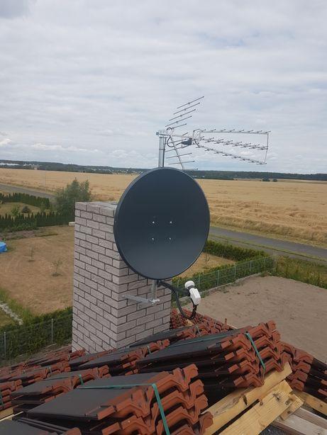 Ustawianie anteny satelitarnej naziemna alarm kamery serwis laptopów