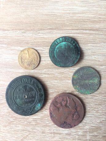 Монети 1896 р.,1894 р, 1903 р.