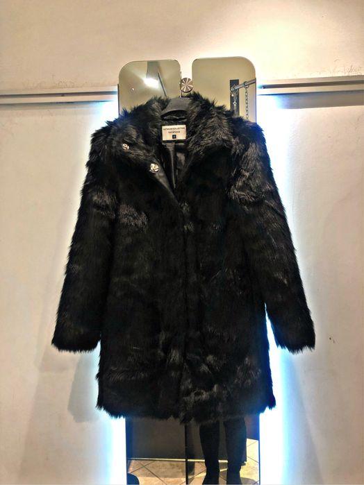 Futerko czarne modne teddy plaszczyk S M zapinane hit modne teddy Gdańsk - image 1