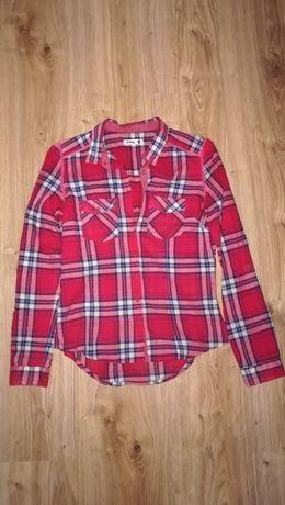 Czerwona koszula w kratę, długi rękaw rozmiar XS sinsay