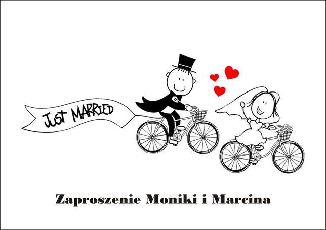 Zaproszenia ślubne na wesoło