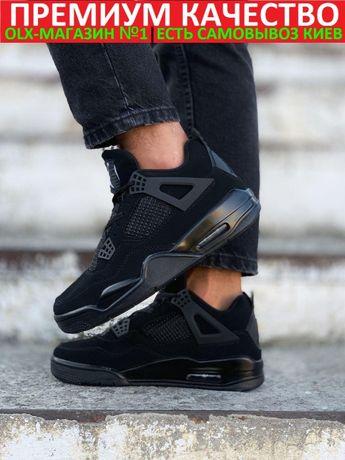 "Кроссовки Nike Air Jordan 4 Black Cat ""Triple Black"""