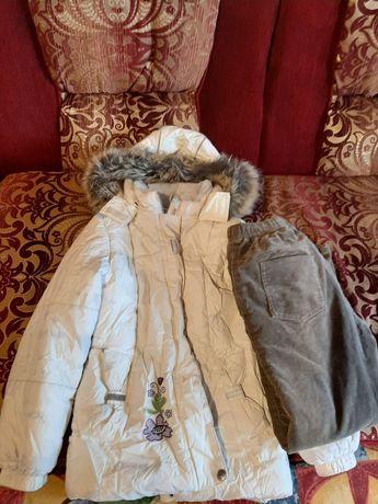 Отдам даром зимняя куртка Lenne р.128 и штаны на флисе