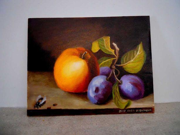 """Quadro óleo sobre tela """"Frutas maduras"""""""