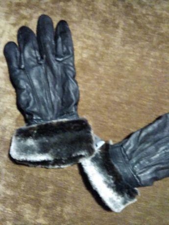 ,новые  кожаные перчатки