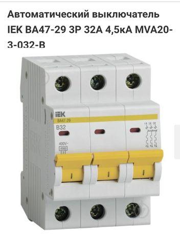 выключатель автоматический iek ва47-29 3п с 32а