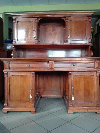 Szlachetne biurko z nadstawką secesja wiedeńska czereśnia śliwa