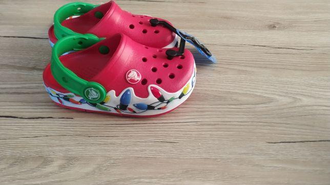 Новые кроксы Crocs Crocslights  мигают