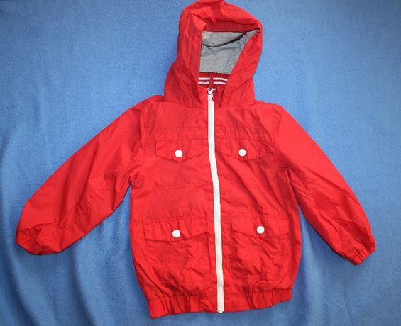 Куртка ветровка красная на 3-4 года