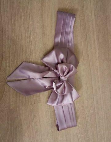Kokarda kokardka szarfa pasek do sukienki sukni elegancki fioletowy