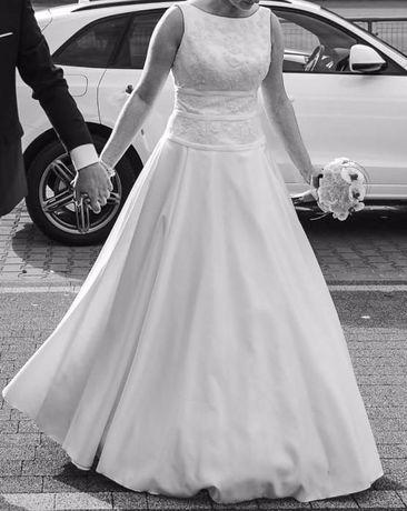 Wyjątkowa Suknia Ślubna Ecru rozmiar 38