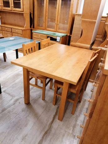 """Mesa em madeira 4 pés pinho """"Nova"""""""