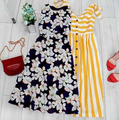 Невероятно красивое платье миди в цветы размер 46-48