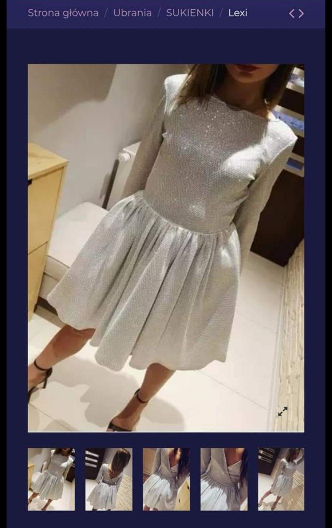 Sukienka błyszcząca
