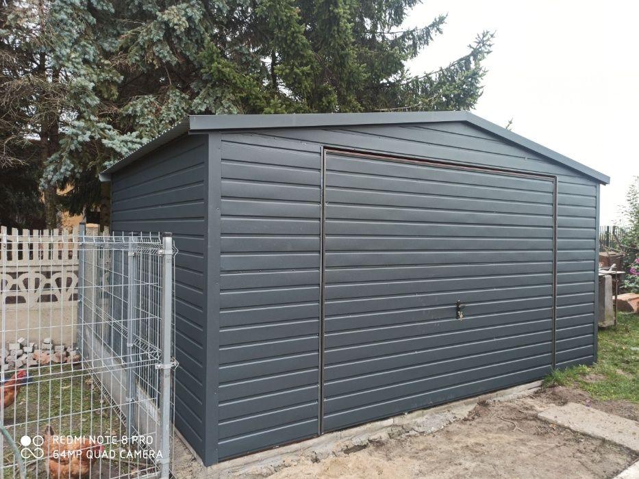 Garaż 4x6 Antracyt / Grafit, dwuspadowy, producent