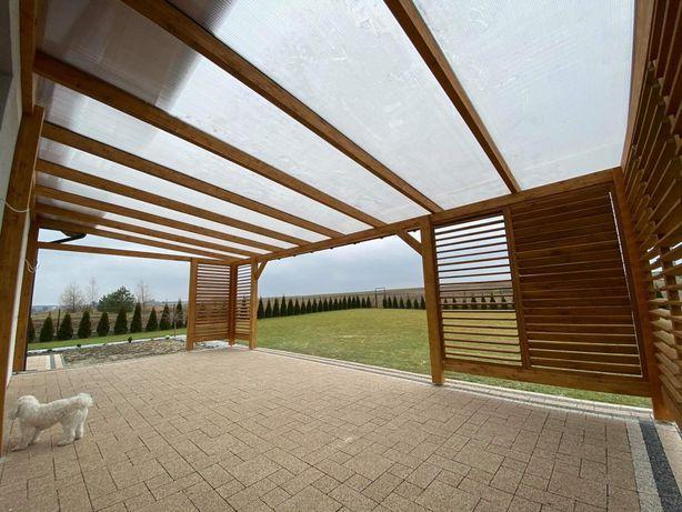 Konstrukcje drewniane**weranda**zadaszenie**wiata**żaluzje**pergola**