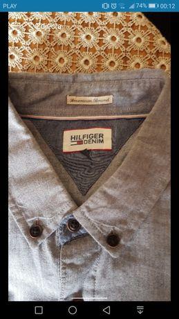 Koszula jeansowa TOMMY HILFIGER XXL niebieska denim