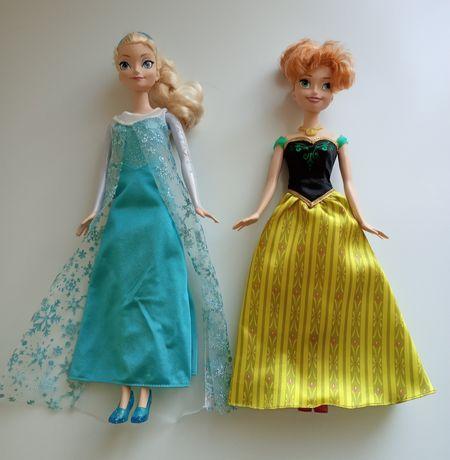 Elza i Anna lalka Kraina Lodu Frozen oryginalna Disney Mattel nowa Wwa