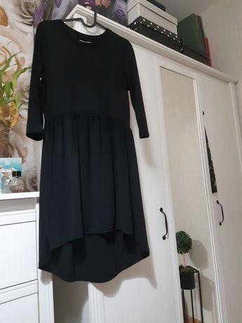 Zaraz czarna sukienka dłuższy tył m 38 Sylwester