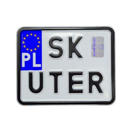 Tablica rejestracyjna -skuter ,motorower .