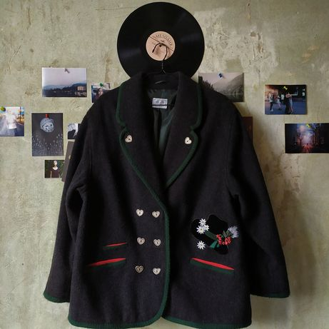 винтажное укороченное пальто