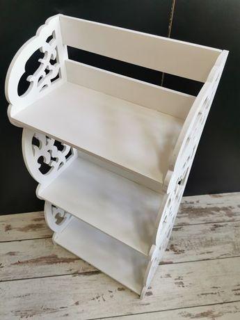 Elegancka półka biała ZW-061 AŻUROWA STYL RETRO