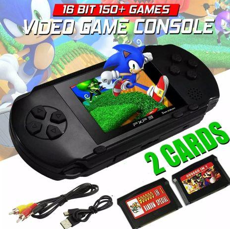 Consola de Videojogos portátil com muitos jogos incluídos (Novo)