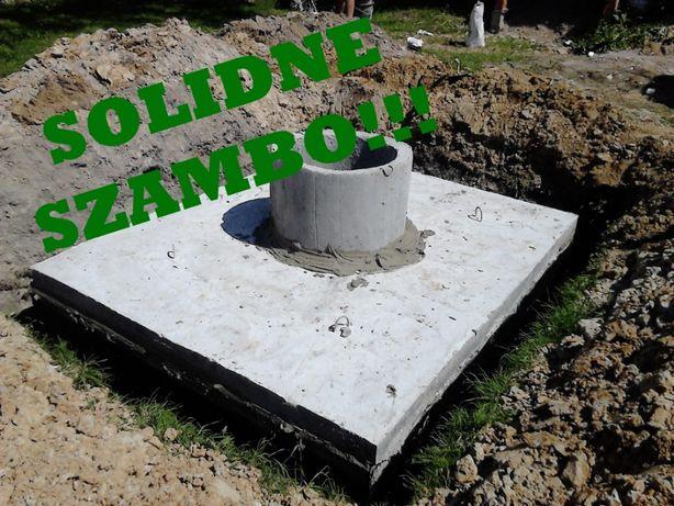 Szamba betonowe szambo w 100% wytrzymałe zbiornik betonowy 8m3
