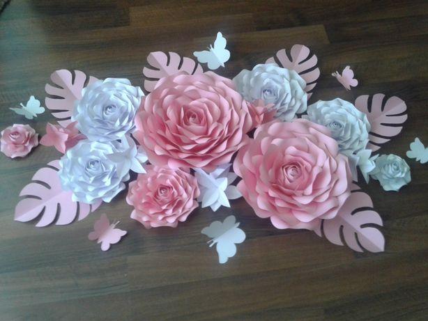 Kwiaty z papieru Chanel