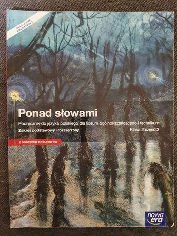 """""""Ponad słowami"""", podręcznik do j. polskiego, klasa 2 część 2, Nowa Era"""