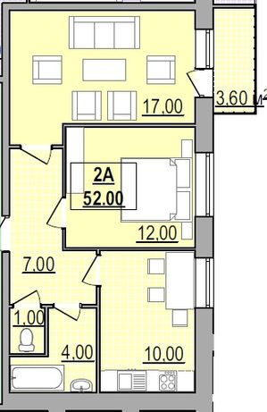 Центр міста,, 2-кімнатна квартира