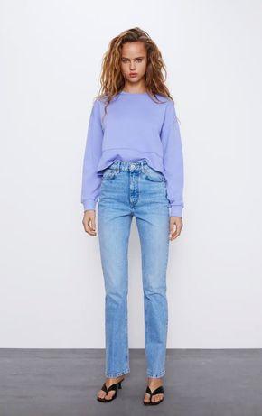 Свитшот ZARA худи Зара толстовка лиловый свитер  новый 36 ,34 S ,М OS
