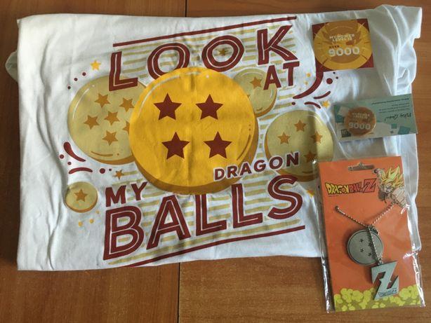 Dragon Ball Z - Kolekcja dla Fana - Koszulka XXL, Naszyjnik, Przypinka