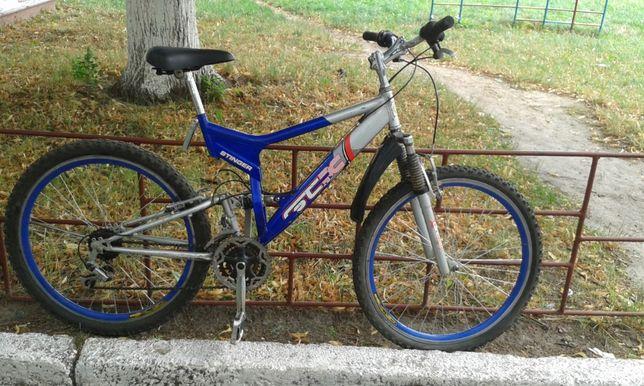 Горный, 2-х подвесной велосипед. Сноубайк.